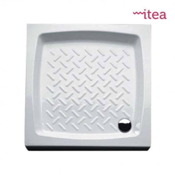Piatto Ceramica Bianco.Piatto Doccia 72x72 Quadro Bianco In Ceramica Altezza 10 Cm