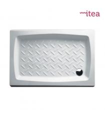Piatto Doccia 80x100 Rettangolare Ceramica Bianco Spessore 10 Cm.