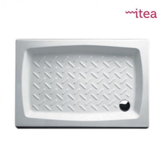 Piatto Doccia Ceramica 80x100.Piatto Doccia 80x100 Rettangolare Bianco In Ceramica Altezza 10 Cm