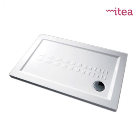 Piatto Doccia Ceramica 80x100.Piatto Doccia 80x100 Rettangolare Bianco In Ceramica Altezza 5 5 Cm