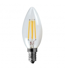 Lampada Led C35 E14 Oliva 5w=40w 3000k Wireled Leuci
