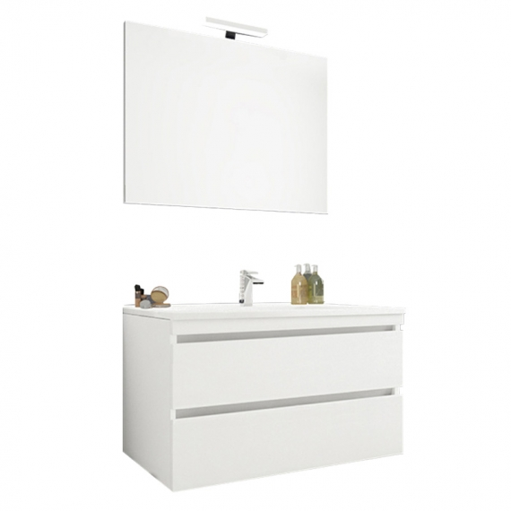 MOBILE BAGNO MOD. CLOUD 80 2C SOSPESO IN KIT BI