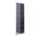 Lato Fisso Per Box Doccia Mod. Dem L70xh195 Cristallo 6mm Trasparente Profilo In Alluminio Cromato