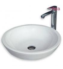 Lavabo Modello Twist 47x47x14 Da Appoggio In Ceramica
