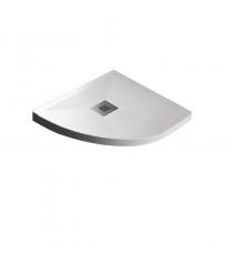 Piatto Doccia Stone Plus Curvo Marmoresina Bianco Slim Riducibile Con Piletta Spessore 3cm.