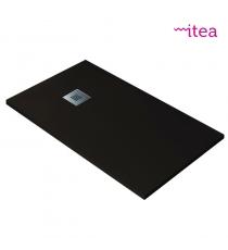 Piatto Doccia Stone Plus Rettangolare Marmoresina Cioccolato Slim Riducibile Con Piletta Spessore 3cm.