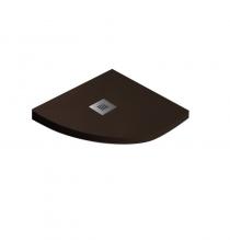 Piatto Doccia Stone Plus Curvo Marmoresina Cioccolato Slim Riducibile Con Piletta Spessore 3cm.
