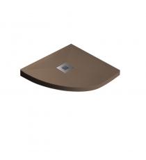 Piatto Doccia Stone Plus Curvo Marmoresina Moka Slim Riducibile Con Piletta Spessore 3cm.