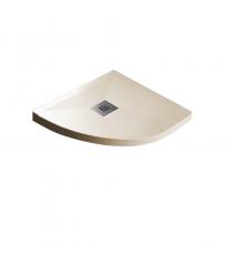 Piatto Doccia Stone Plus Curvo Marmoresina Crema Slim Riducibile Con Piletta Spessore 3cm.