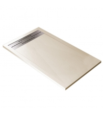 Piatto Doccia Stone Cach Rettangolare Marmoresina Crema Slim Riducibile Con Piletta Spessore 3cm.