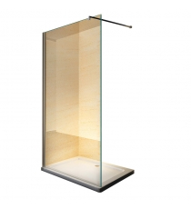 BOX DOCCIA WALK-IN 140X195 CRS 8MM TRAS CROMO