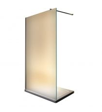 BOX DOCCIA WALK-IN 140X195 CRS 8MM SATIN CROMO