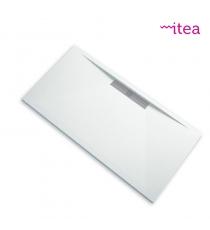 Piatto Doccia Stone Side Rettangolare Marmoresina Bianco Effetto Pietra Slim Riducibile Con Piletta Spessore 3cm.