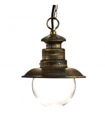 Lanterna Mod. Gea Sospensione Oro/nera