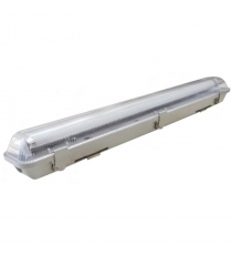 Plafoniera 2x19 W Ip65 Cm.120 X Tubo Led Wpf-stega