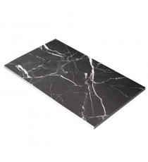 Piatto Doccia Stone 3d Marmo Nero Rettangolare Marmoresina Slim Riducibile Con Piletta Spessore 3cm.