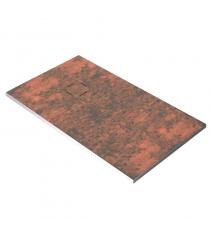 Piatto Doccia Stone 3d Ossido Rettangolare Marmoresina Slim Riducibile Con Piletta Spessore 3cm.