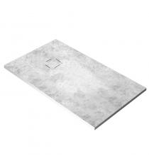 Piatto Doccia Stone 3d Microcemento Rettangolare Marmoresina Slim Riducibile Con Piletta Spessore 3cm.