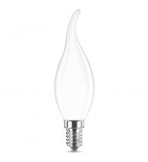 Lampada Led C35t E14 Colpo Di Vento 3.6w=30w 2700k Opale Vetro Bianco
