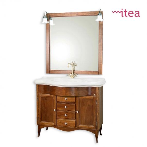 Mobile bagno Laura 65 cm 2 ante con specchiera e applique arte povera con  zoccolo