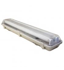 Plafoniera 2x60 Cm. Ip65 X Tubo Led Optonica
