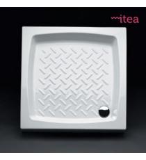 Piatto Doccia 75x75 Quadrato Ceramica Bianco Spessore 10 Cm.