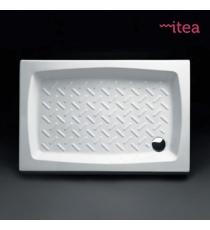 Piatto Doccia 72x90 Rettangolare Ceramica Bianco Spessore 10 Cm.