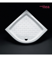 Piatto Doccia 90x90 Curvo Ceramica Bianco Spessore 10 Cm.