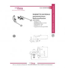 Rubinetto 1 Pedale Pavimento/muro Acqua Fredda Serie Eart Bathroompassion