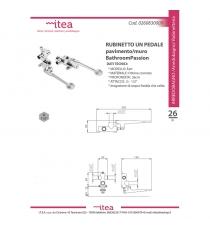 Rubinetto 1 Pedale Pavimento/muro Acqua Fredda E Calda Serie Eart Bathroompassion
