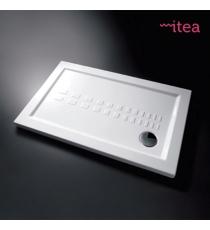 Piatto Doccia Slim 80x100 Rettangolare Ceramica Bianco Spessore 5,5 Cm.