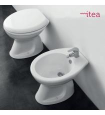 Set Sanitari Bidet Wc E Sedile Coprivaso Serie 1 Tradizionale In Ceramica