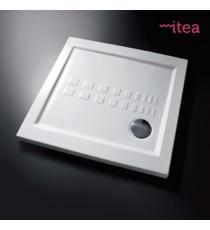 Piatto Doccia Slim 80x80 Quadro Ceramica Bianco Spessore 5,5 Cm.
