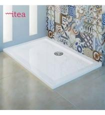 Piatto Doccia Flat 76x170 Rettangolare Acrilico Metacrilato Bianco Spessore 3,5 Cm.
