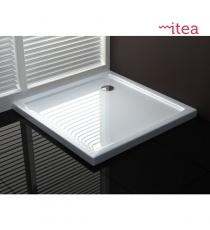 Piatto Doccia Easyflat 76x76 Quadrato Acrilico Bianco Spessore 3 Cm.