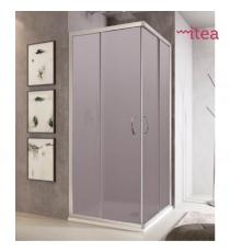 Box Doccia Mod. Stier L90xp90xh185 Angolare Scorrevole Cristallo 6mm Trasparente Profilo In Alluminio Cromato