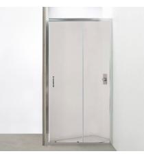 Box Doccia Mod. Stier L145xh185 Nicchia Scorrevole Cristallo 6mm Trasparente Profilo In Alluminio Cromato