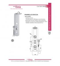 Pannello Doccia Abs Cm.100 C/idro Mod.roma B. Bb