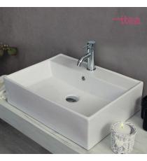 Lavabo Modello Life 58x45x15 Da Appoggio In Ceramica
