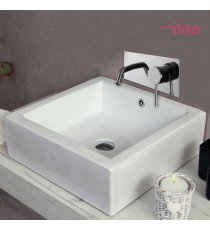 Lavabo Modello Minimal 58x45x15 Da Appoggio In Ceramica
