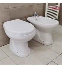 Set Sanitari Bidet Wc E Sedile Coprivaso Serie Foxy Filo Muro In Ceramica