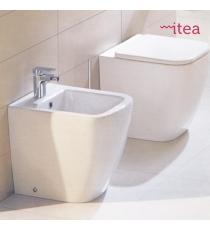 Set Sanitari Bidet Wc E Sedile Coprivaso Chiusura Rallentata Serie Mito 2 Filo Muro In Ceramica
