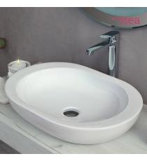 Lavabo Modello Smooth 59x42x9,5 Da Appoggio In Ceramica