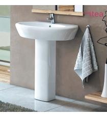 Lavabo Serie  Narciso 68 Cm Filo Muro In Ceramica