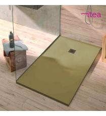 Piatto Doccia Stone Plus Rettangolare Marmoresina Sabbia Slim Riducibile Con Piletta Spessore 3cm.