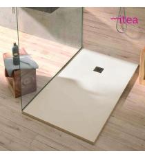 Piatto Doccia Stone Plus Rettangolare Marmoresina Crema Slim Riducibile Con Piletta Spessore 3cm.