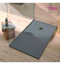 Piatto Doccia Stone Plus Rettangolare Marmoresina Grigio Slim Riducibile Con Piletta Spessore 3cm.