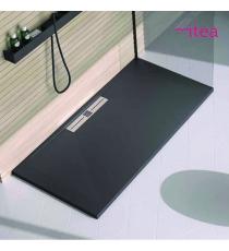 Piatto Doccia Stone Side Rettangolare Marmoresina Antracite Effetto Pietra Slim Riducibile Con Piletta Spessore 3cm.