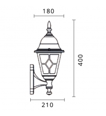 Lanterna Mod. Sibilla Up Nero