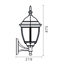 Lanterna Mod. Demetra Up Nero